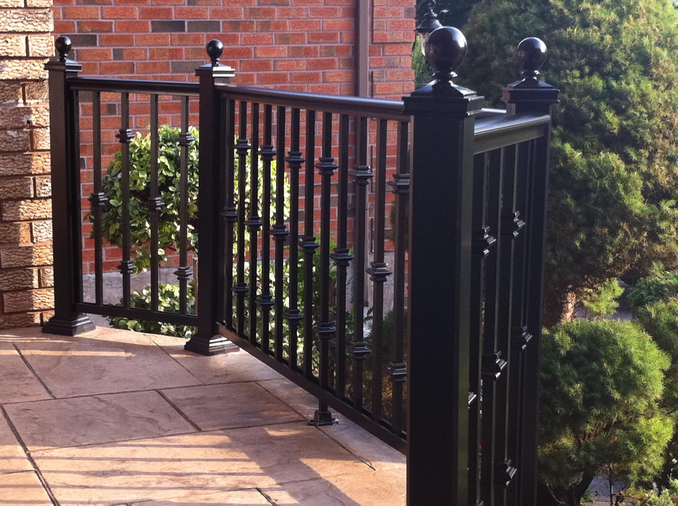aluminum railing awning porch enclosure front doors toronto gta. Black Bedroom Furniture Sets. Home Design Ideas